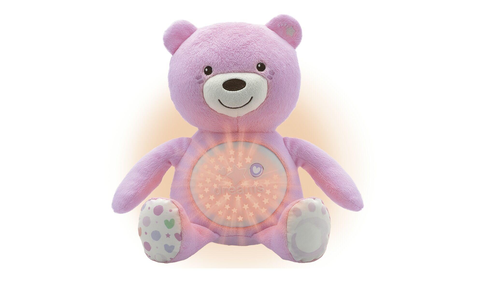 Chicco Nachtlicht   Musikalischer Baby Bär ¦ rosa/pink ¦ 100% Polyest