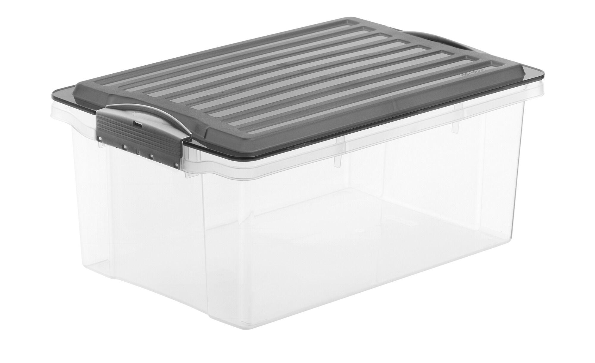 Rotho Aufbewahrungsbox mit Deckel ¦ grau ¦ Kunststoff