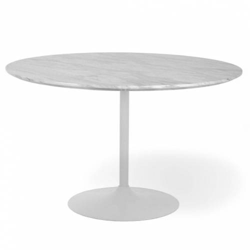 nimarahome.de Kylie - Esstisch rund, Marmoroptik, Ø110