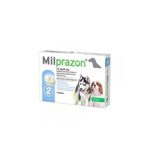 Milprazon Entwurmungsmittel für kleine Hunde und Welpen (0,5 - 5 kg) 2 Tabletten