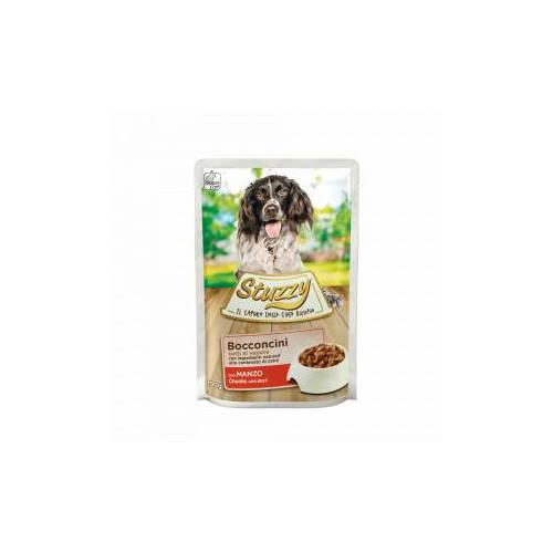 Stuzzy Chunks mit Rind Hunde-Nassfutter 100 gr. 2 dozen ( 48 x 100 gr.)