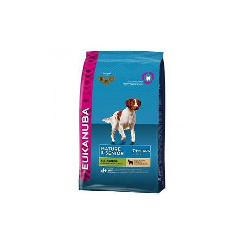 Eukanuba Mature & Senior mit viel Lamm & Reis Hundefutter 2 x 2,5 kg