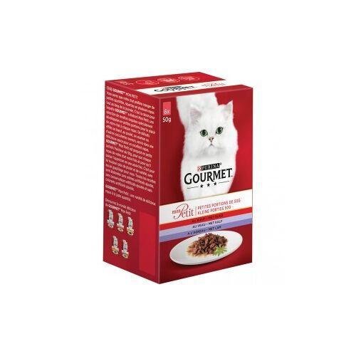 Gourmet Mon Petit Fleisch (6x50g) Katzenfutter 4 x (6 x 50 gramm)