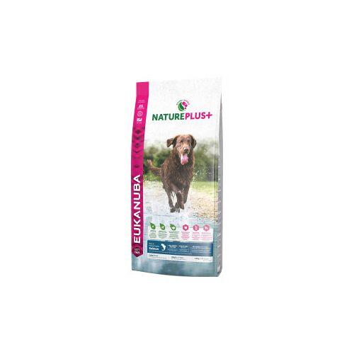 Eukanuba NaturePlus+ Adult Large Breed Lachs Hundefutter 10 kg AUSVERKAUF