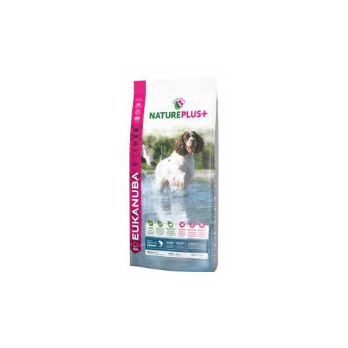 Eukanuba NaturePlus+ Adult Medium Breed Lachs Hundefutter 2,3 kg AUSVERKAUF