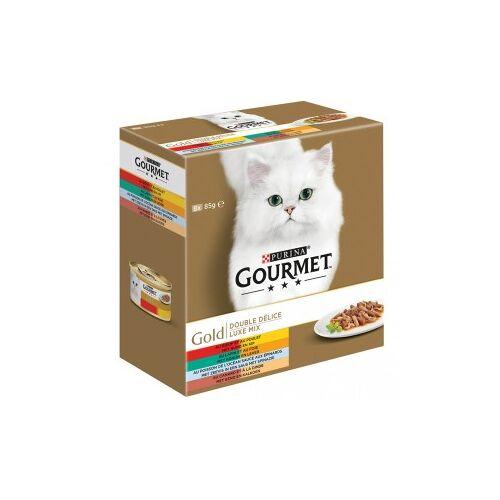 Gourmet Gold 8-Pack Luxe Mix Katzenfutter 96 x 85 gram
