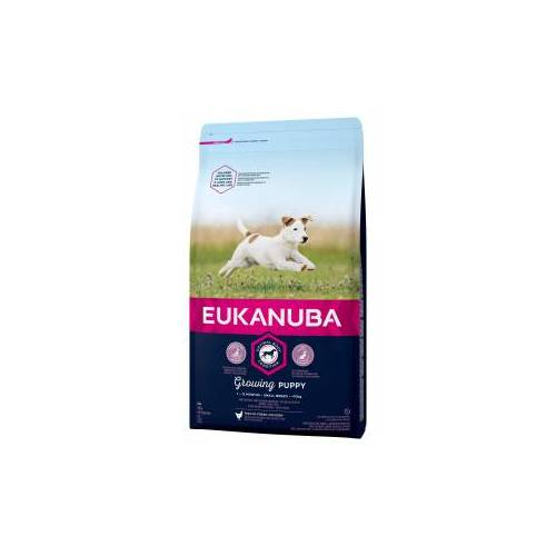 Eukanuba Growing Puppy Small Breed Huhn Hundefutter 3 x 3 kg