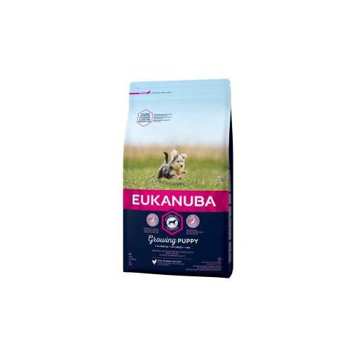Eukanuba Growing Puppy Toy Breed Huhn Hundefutter 2 x 2 kg