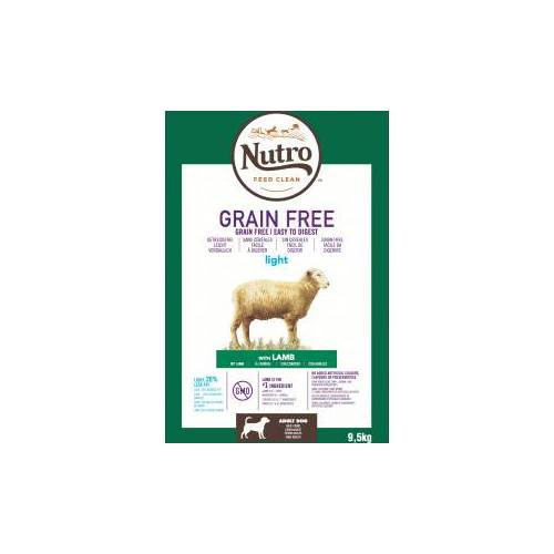 Nutro Grain Free Adult Light Lamm Hundefutter 9.5 kg