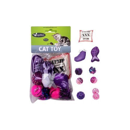 Katzenspielzeug Tasche 10 Stück Blau