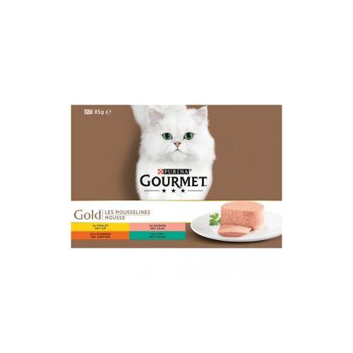 Gourmet Gold 12-Pack Mousse Katzenfutter 96 x 85 gram