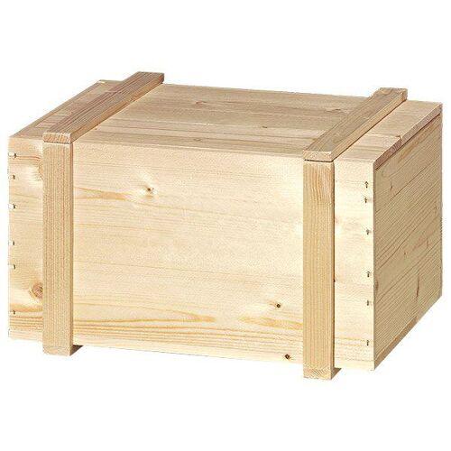 Henne Verpackung Holzkiste für 6 Bocksbeutel oder 6 Flaschen Wein à 0,75 Liter