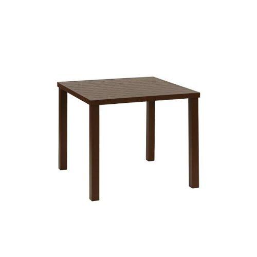 inko Gartenmöbel Tisch Ronda Alu braun - inko Gartenmöbel