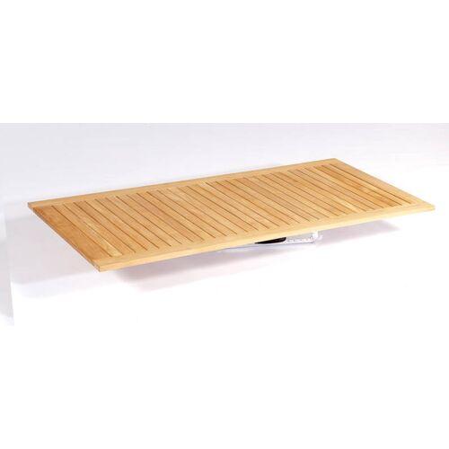 SonnenPartner Tischplatte Pure 160x90 cm Natur Teak
