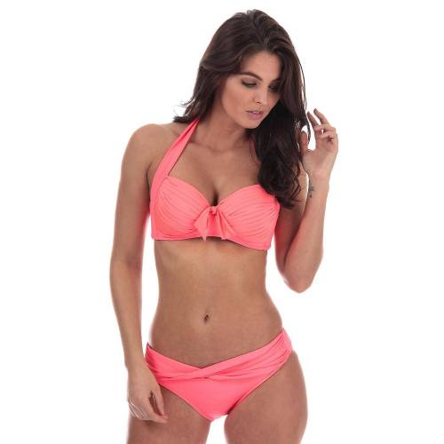 Seafolly Womens Seafolly Soft Cup Halter Bikini Top In Red Hot Orange 12