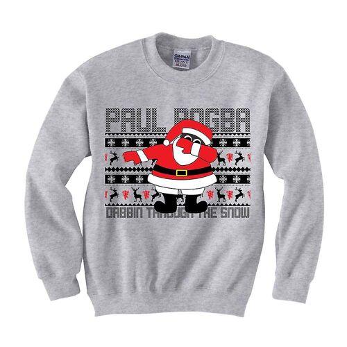 Gildan Paul Pogba Dabbin Weihnachtspullover (grau)