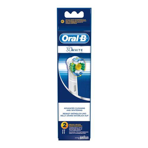 Braun OralB Bürstenaufsätze-Set (3D weiss) für Zahnbürste 64708759, EB18-2