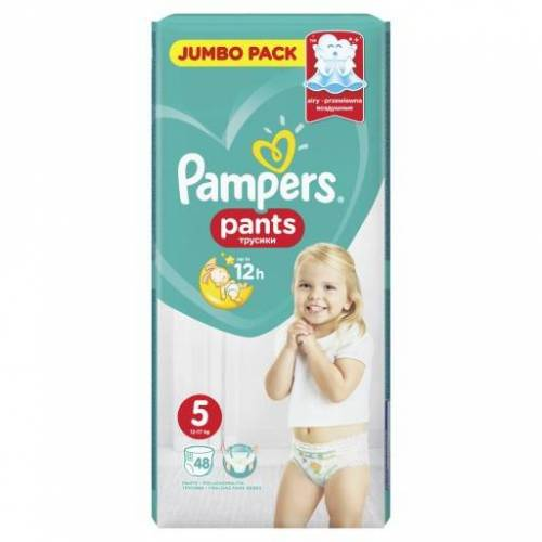 PROCTER & GAMBLE Pampers Pants 5, (11-17kg +) Windeln, 48 Stück
