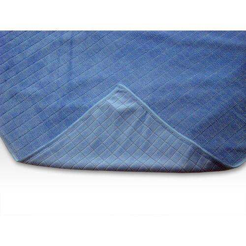 Microfaser Glaspoliertuch Blau 50 x 60cm