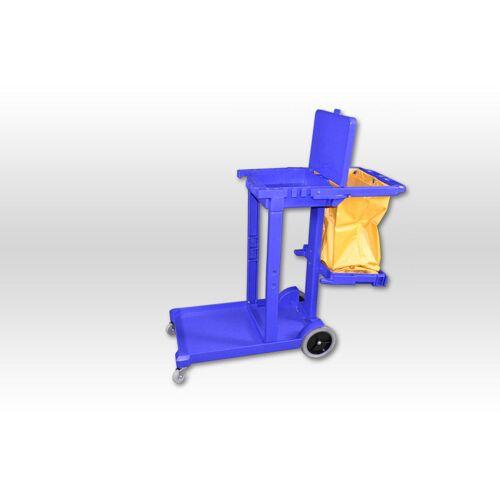 Gerätewagen, C blau mit gelb. PP-Sack und Deckel wenn weg dann weg
