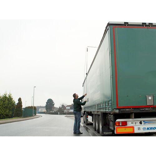 Eis LKW entfernen, Eisplatten vom LKW entfernen durch Sprühen