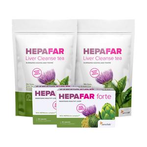 Sensilab Hepafar Paket zur Leberentgiftung für 1 Monat