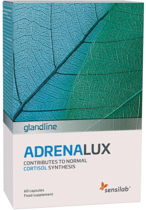 Sensilab AdrenaLux   Effektiv psychischen und körperlichen Stress abbauen   Mit 2 Extrakten aus starken Adaptogenpflanzen   30 Kapseln für 1 Monat   Sensilab
