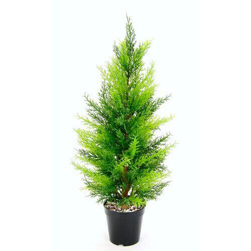 Die Saisontruhe Boden-Kunstbaum Buchsbaum Zypresse in Topf Die Saisontruhe