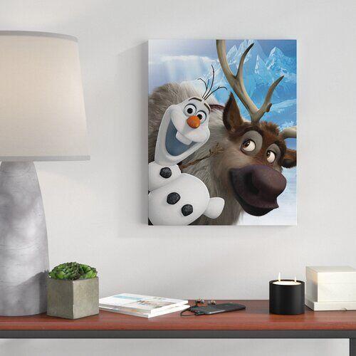 Frozen Leinwandbild Frozen - Olaf and Sven, Retro-Werbung Frozen