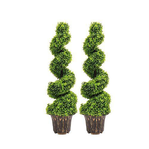 Die Saisontruhe 2-tlg. Set Kunstbaum Buchsbaum im Topf Die Saisontruhe