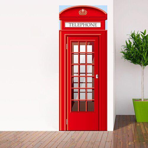 East Urban Home Türaufkleber UK Telefonzelle East Urban Home