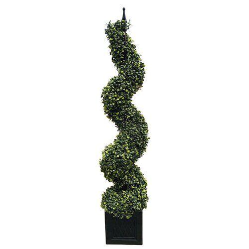 Die Saisontruhe Boden-Kunstbaum Buchsbaum im Topf Die Saisontruhe Größe: 120 cm H x 25 cm B x 25 cm T