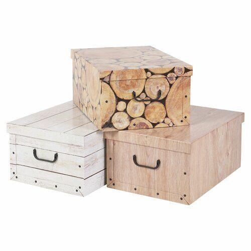 Union Rustic 3-tlg. Aufbewahrungsboxen-Set aus Karton Union Rustic