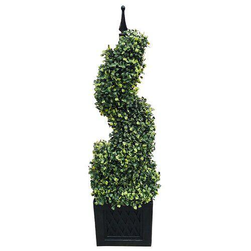 Die Saisontruhe Boden-Kunstbaum Buchsbaum im Topf Die Saisontruhe