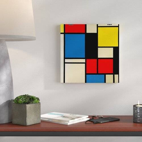 "ART Wandbild ""Lithograph"" von Piet Mondrian, Kunstdruck Big Box Art"