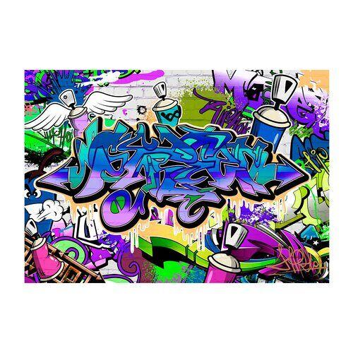 East Urban Home Glatte Fototapete Graffiti East Urban Home
