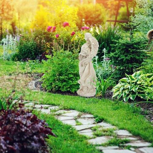 Relaxdays Gartenfigur Engel Relaxdays