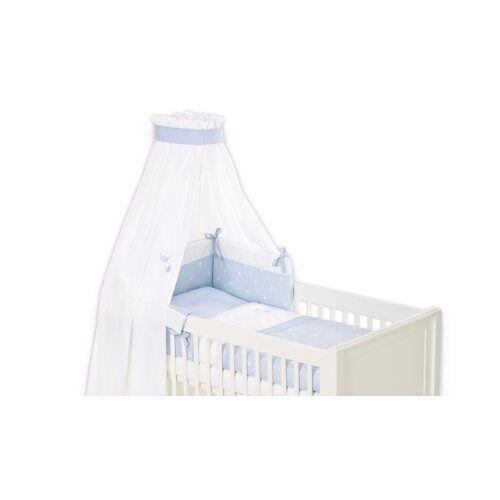 Träumeland 4-tlg. Babybettwäsche-Set Krone Träumeland Farbe: Blau