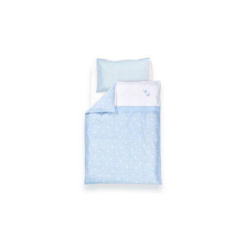 Träumeland 2-tlg. Babybettwäsche-Set Krone Träumeland Farbe: Blau