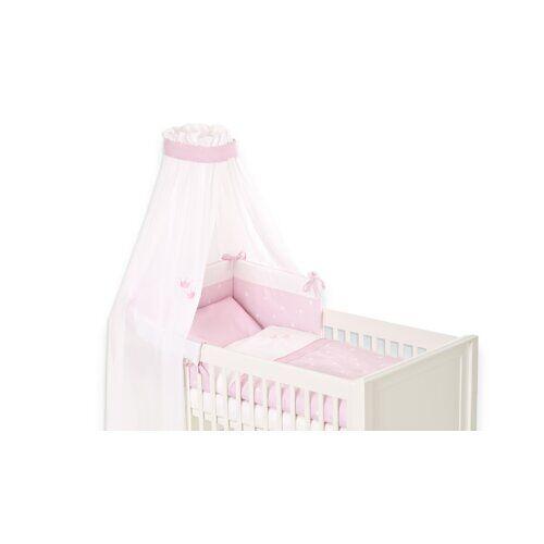 Träumeland 4-tlg. Babybettwäsche-Set Krone Träumeland Farbe: Rosa
