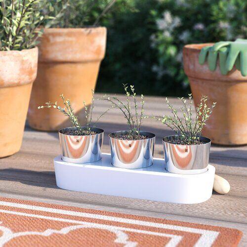 WMF 3-tlg. Blumentopf-Set Gourmet mit Bewässerungssystem WMF