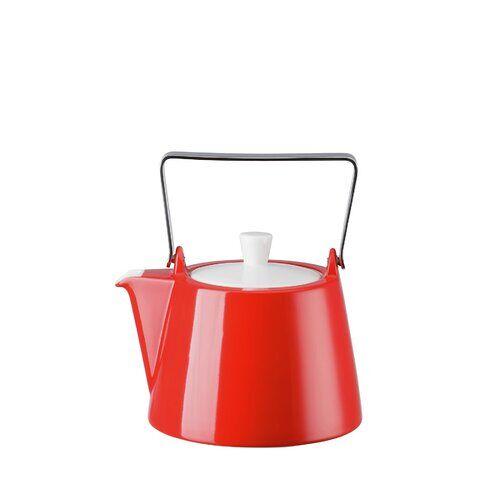 Arzberg 1,15 L Teekanne Tric aus Porzellan Arzberg Farbe: Rot