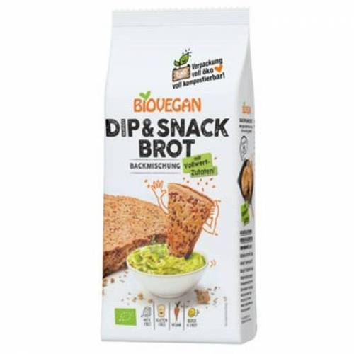 Biovegan Bio Brotbackmischung Dip & Snack glutenfrei - 330g