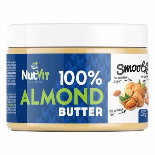 NutVit 100% Almond Butter - 500g Smooth