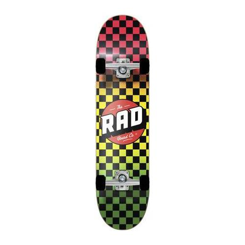 RAD Skateboards Skateboard Komplettboard RAD Checkers (Rasta Fade)