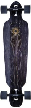 Landyachtz Longboard Komplettboard Landyachtz Battle Axe (Black Space Rock)
