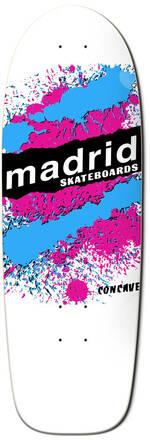Madrid Retro Cruiser Skateboard Deck (Explosion White)