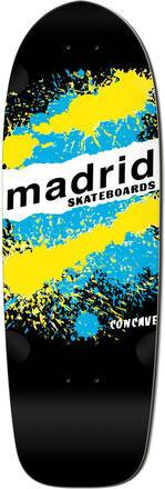 Madrid Retro Cruiser Skateboard Deck (Explosion Black)