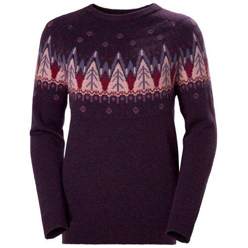 Helly Hansen Woherr Wool Knit Sweater Purple L