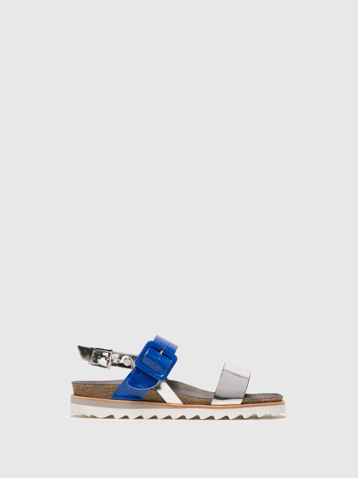Wolky Sandalen mit Schnalle in Mehrfarbig - Overcube